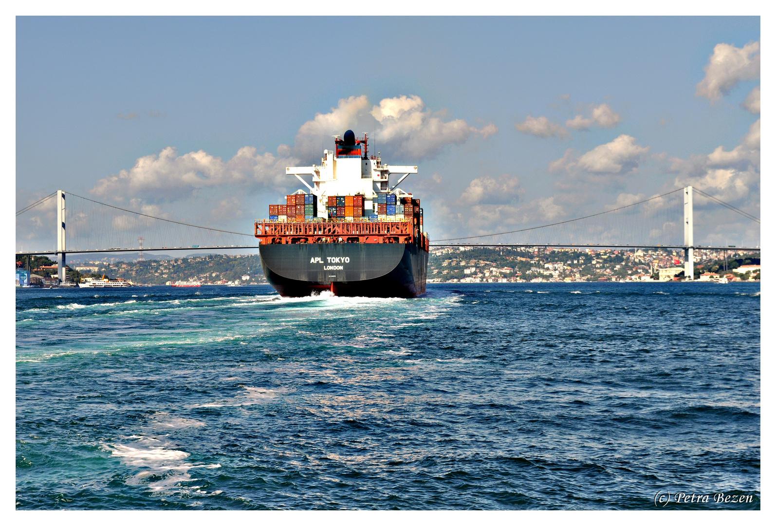 Frachter auf dem Bosporus