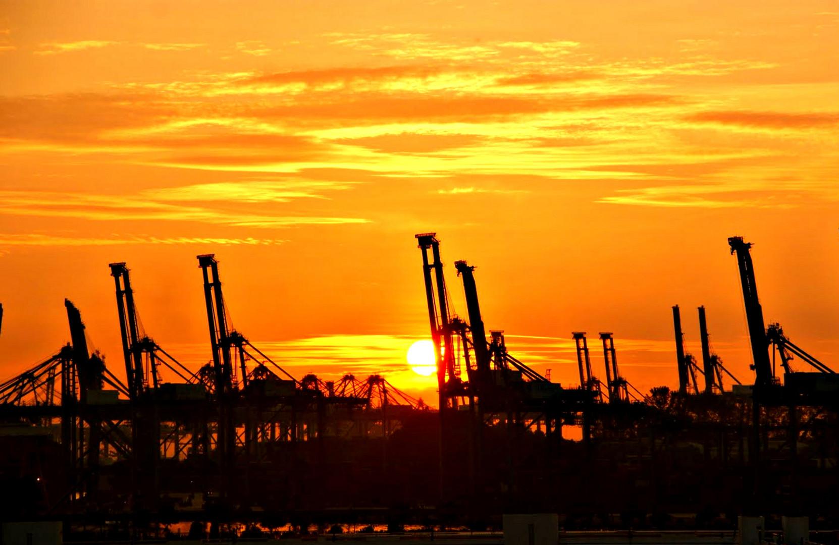 Frachthafen von Singapur