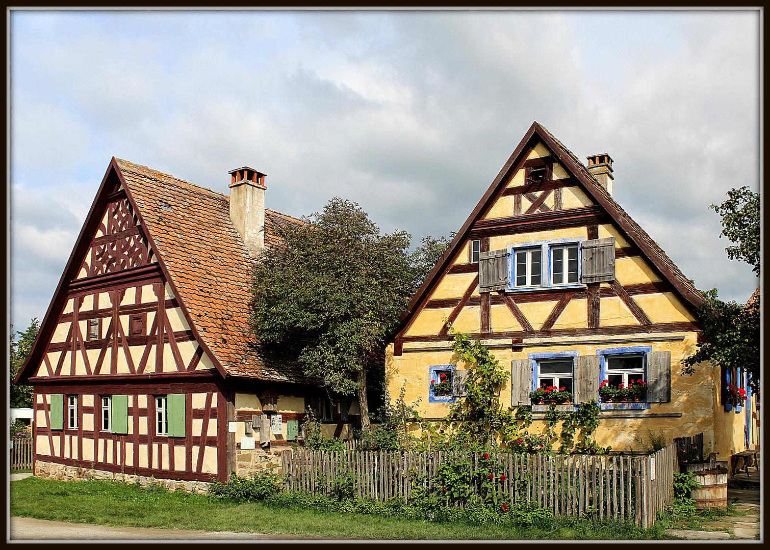 Fränkische Fachwerk Häuser