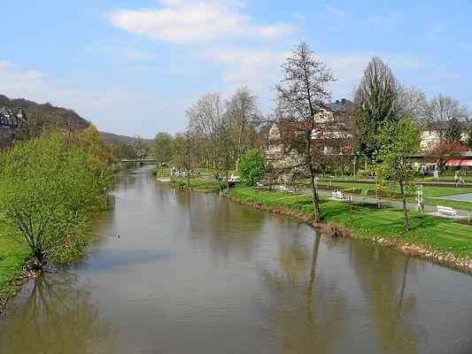 fränkische Saale in Bad Kissingen