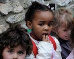 Fragende Kinderaugen