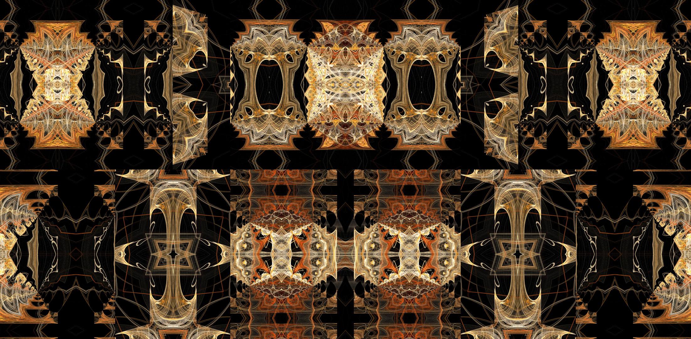 Fraktale Bernstein Ornamente / Bernstein fractal ornaments