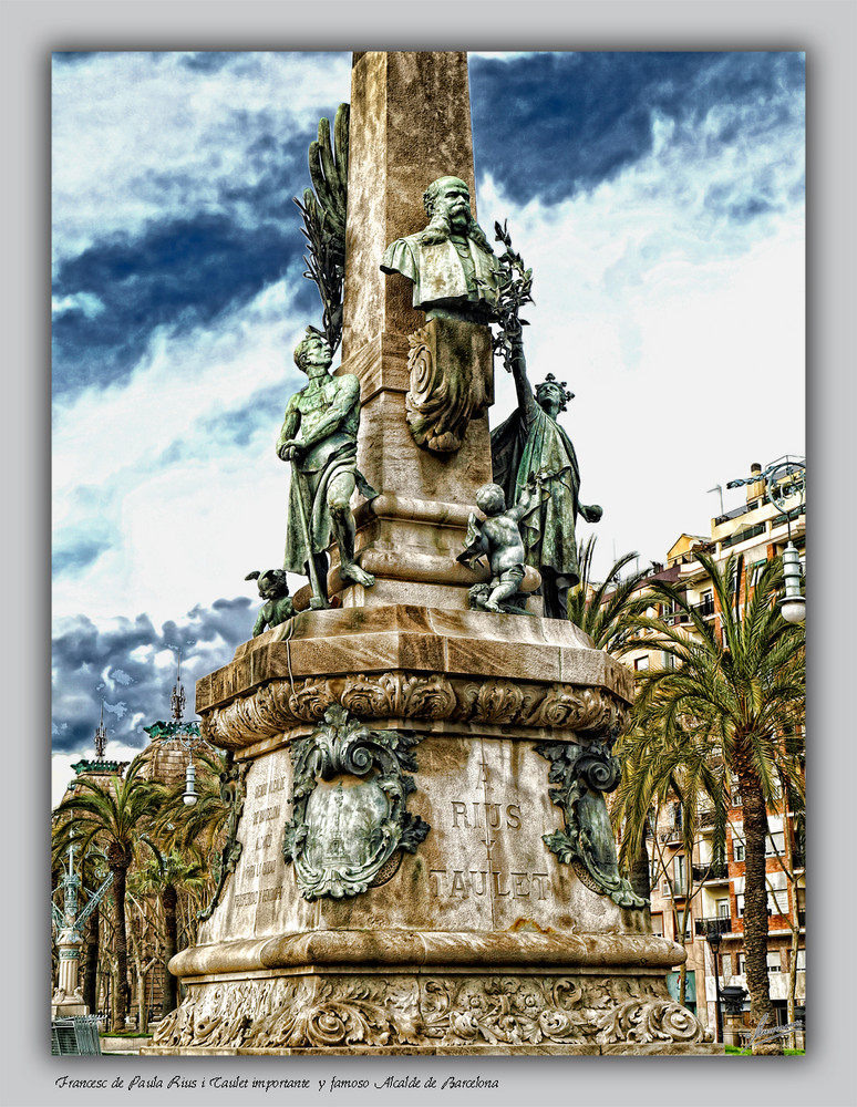 Francesc de Paula Rius i Taulet importante y famoso Alcalde de Barcelona