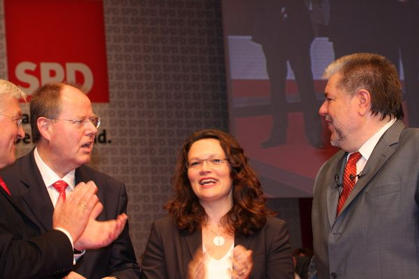 Frank Walter Steinmaier, Peer Steinbrück Andrea Nahles, Kurt Beck