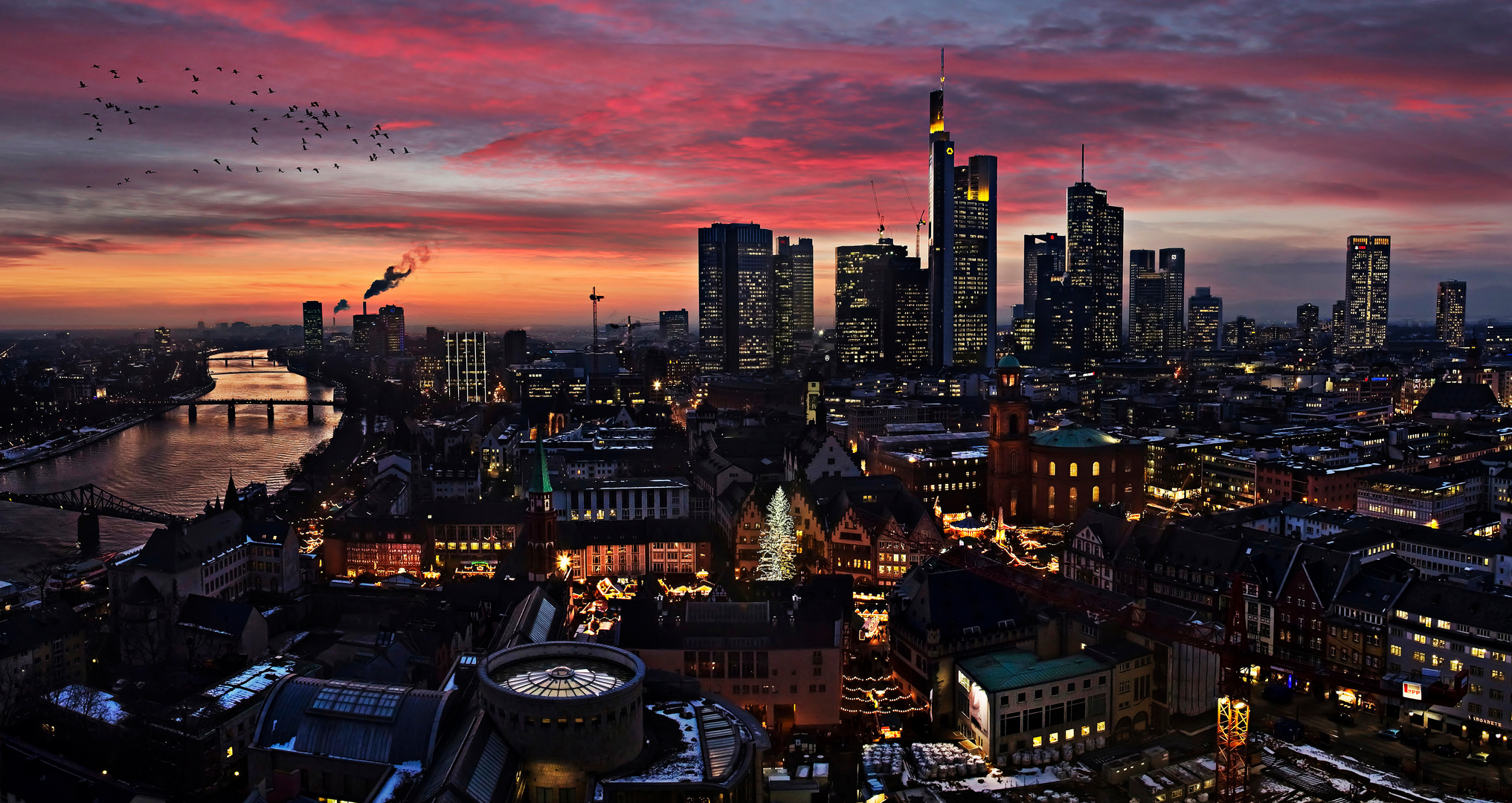 frankfurt am main skyline foto bild deutschland. Black Bedroom Furniture Sets. Home Design Ideas