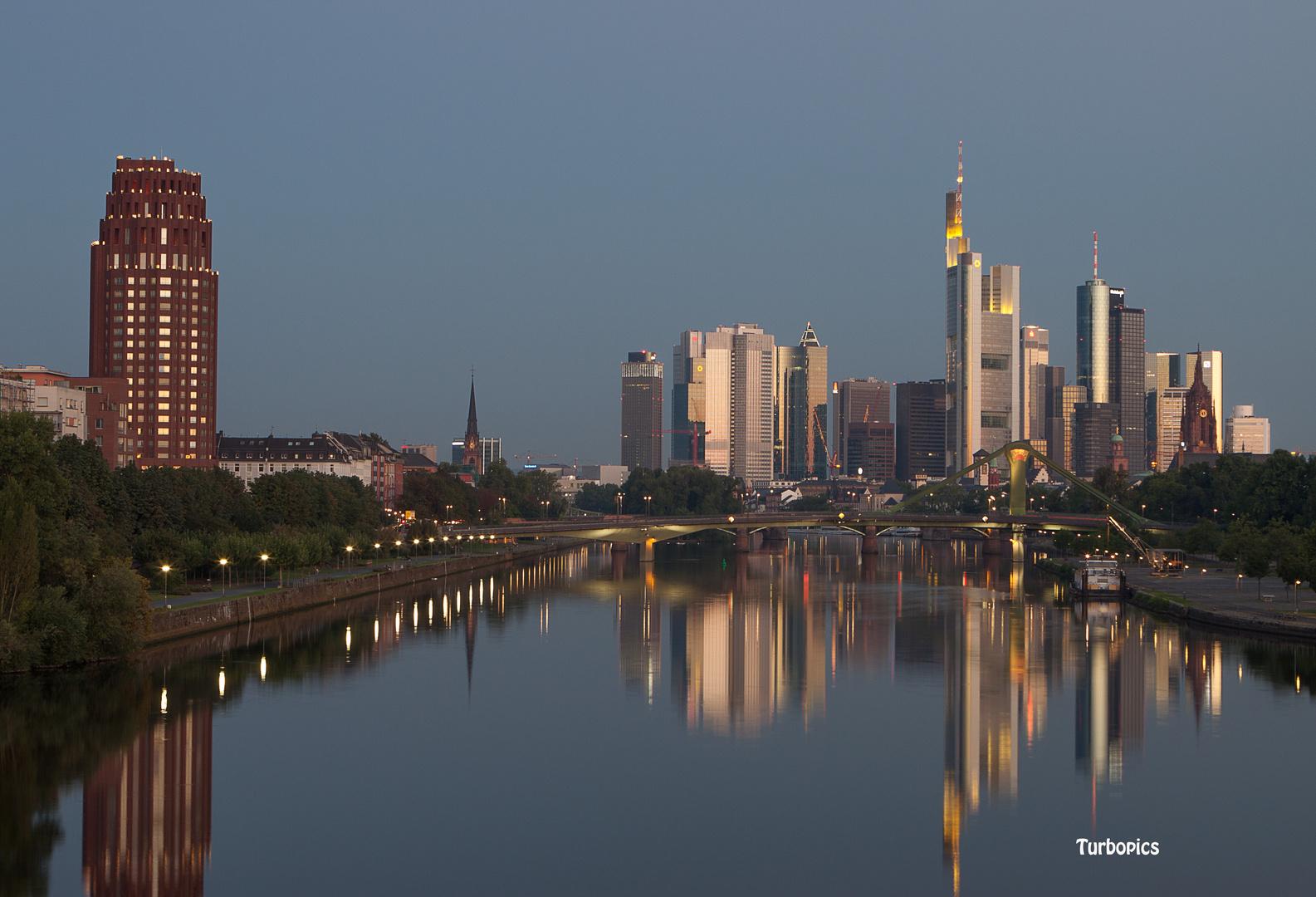 Morgen Frankfurt frankfurt am morgen foto bild