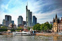 Frankfurt - Anlegestelle am Eisernen Steg