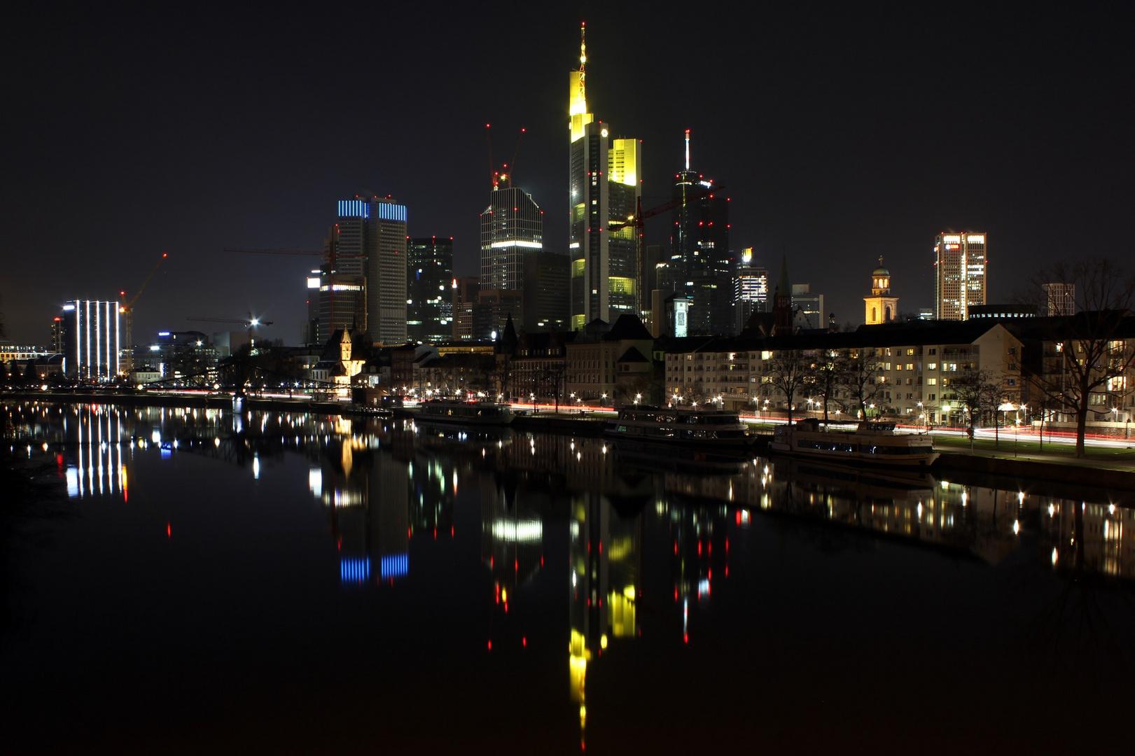 Frankfurt bei (eisiger) Nacht :-)