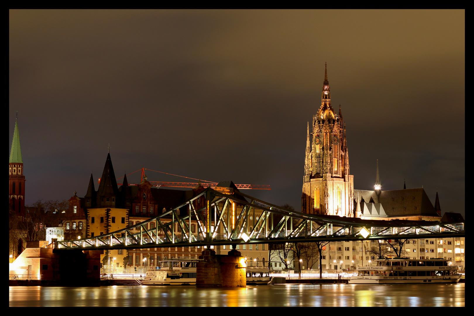 Frankfurt bei Nacht - Alte Brücke