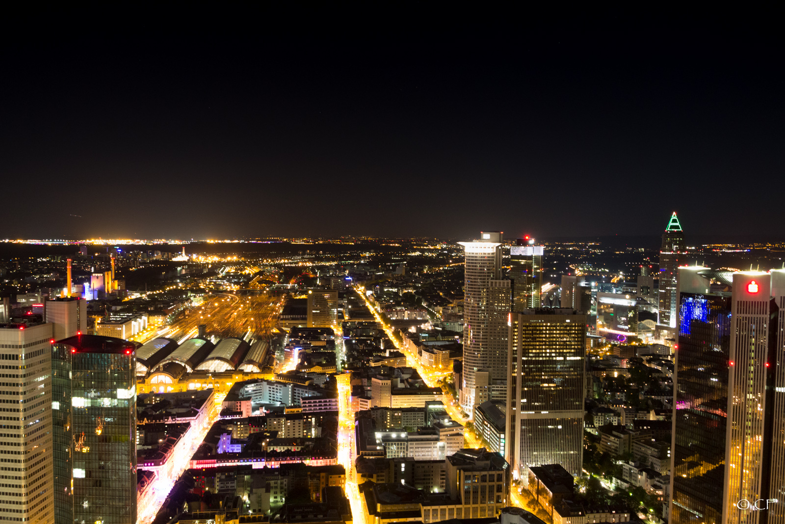 Frankfurt City At Night