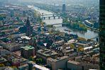 Frankfurt - die Altstadt von oben