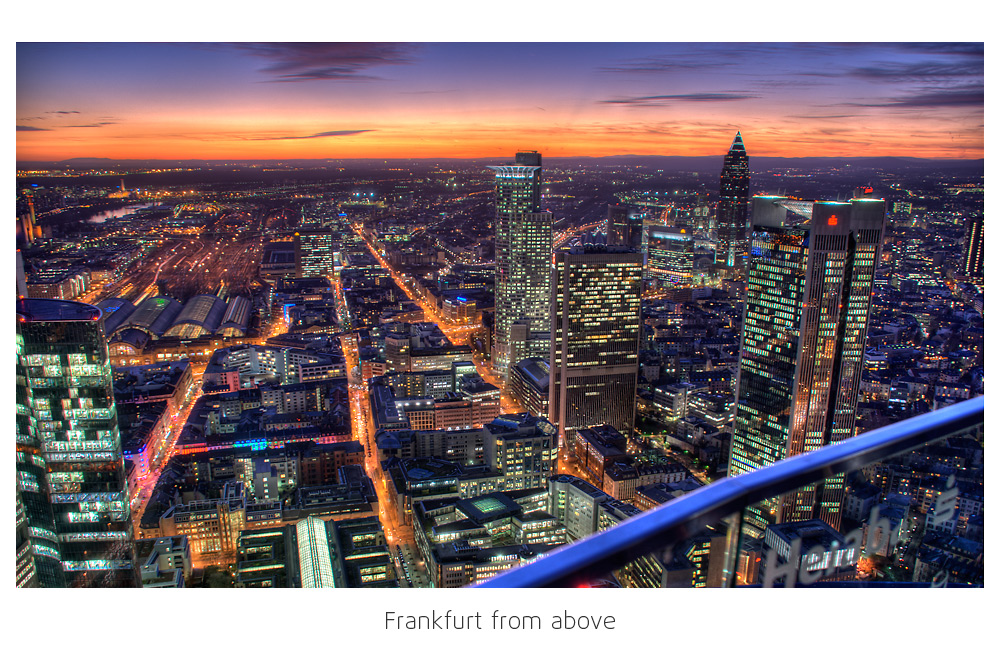 Frankfurt from above