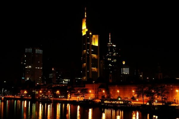Frankfurt Germany at Night