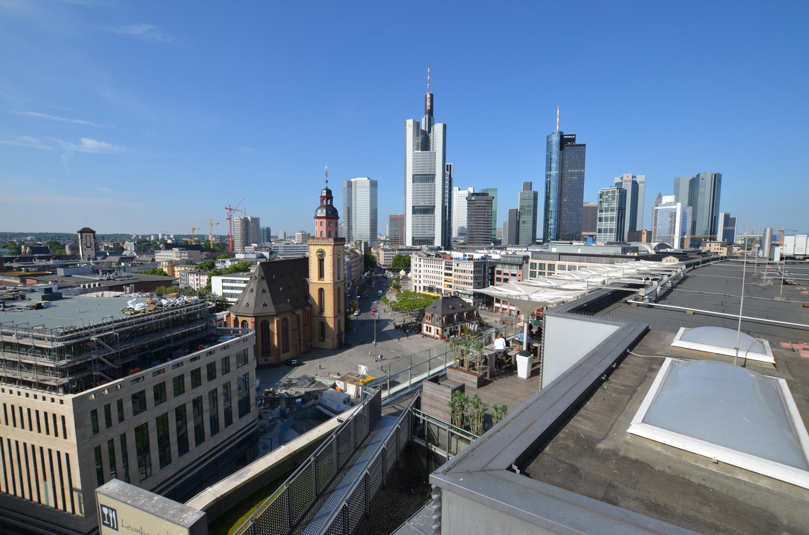 Frankfurt Hauptwache und Skyline
