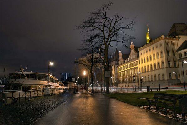Frankfurt Mainufer by night