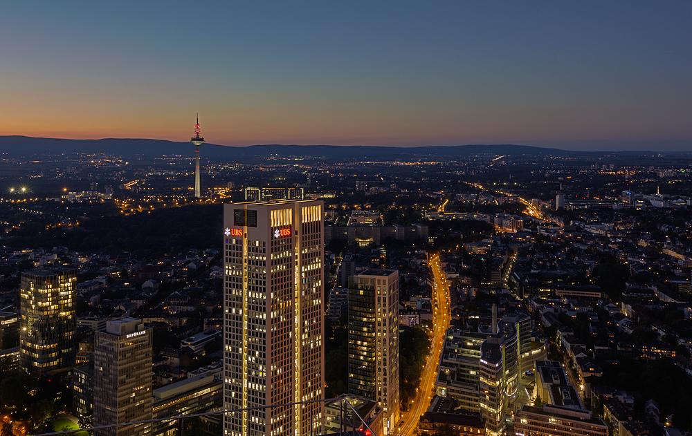 Frankfurt-Nordend bei Nacht