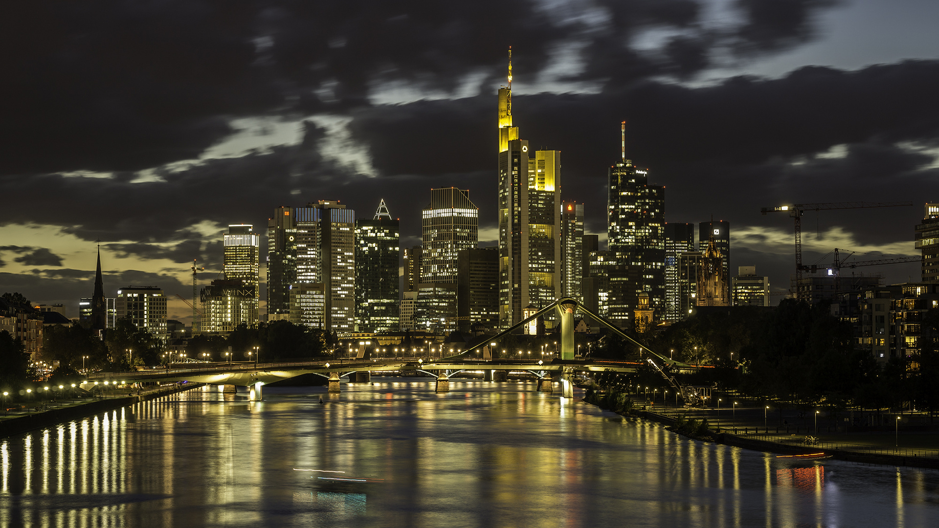 frankfurt skyline bei nacht foto bild world nacht abend bilder auf fotocommunity. Black Bedroom Furniture Sets. Home Design Ideas