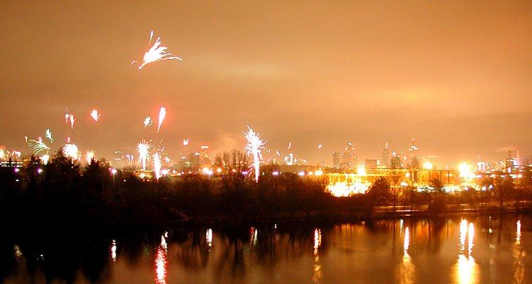 Frankfurt Skyline Fireworks