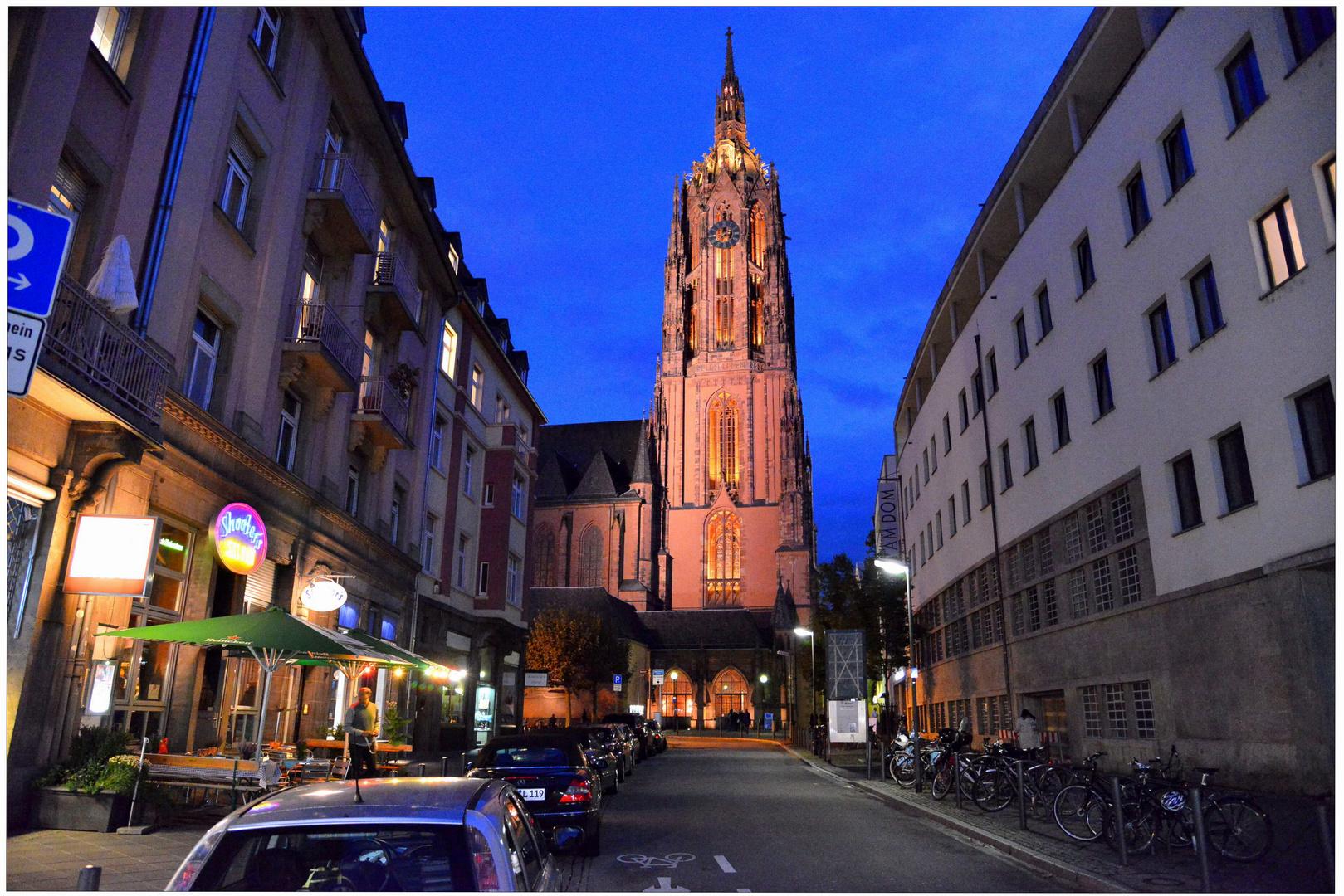 "Frankfurt, vista a la iglesia ""Paulskirche"""