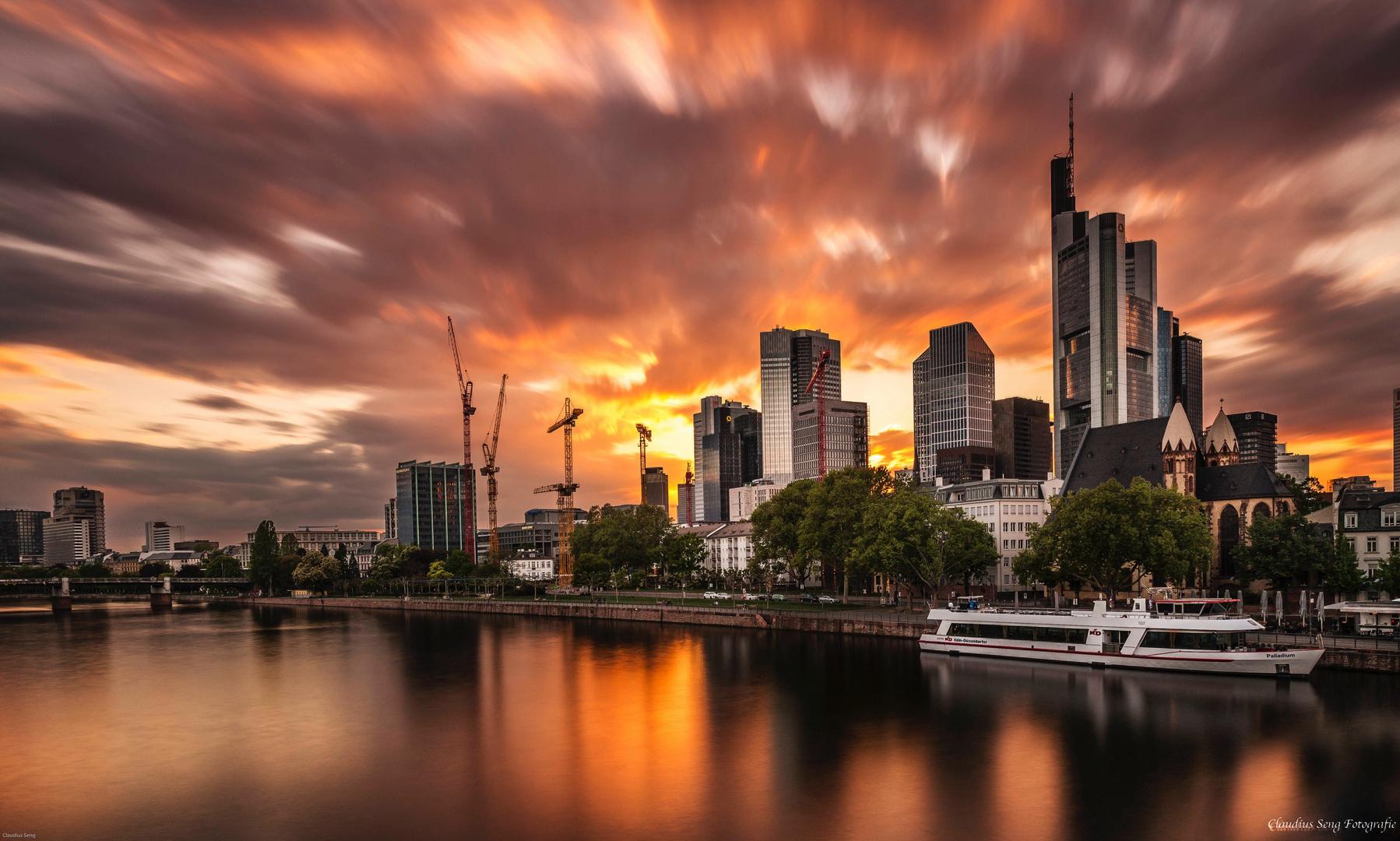 Frankfurt vom Eisernen Steg