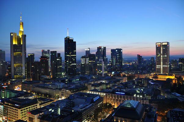 Frankfurt von einer seltenen Perspektive