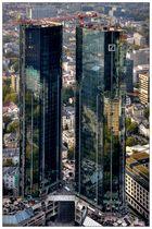 Frankfurt von oben - Deutsche Bank