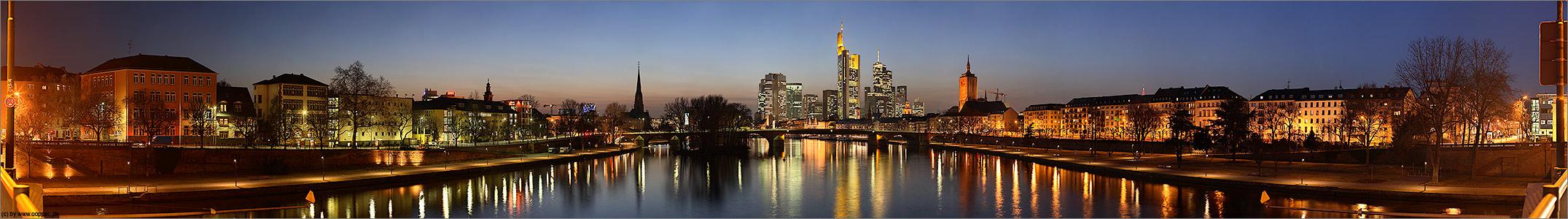 Frankfurter Innenstadt Panorama 180° - Remake