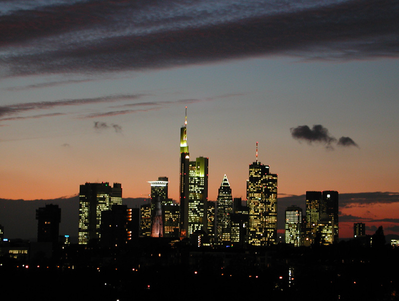 Frankfurter Skyline im Oktober...