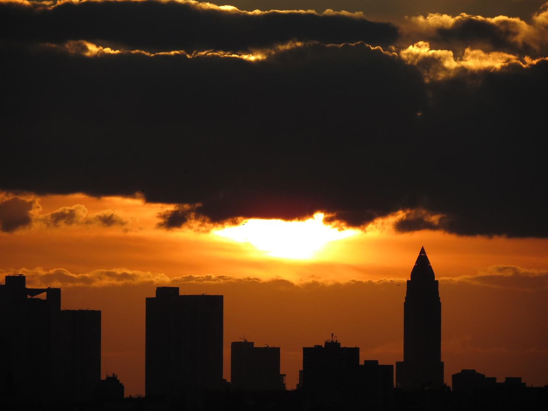 Frankfurter Skyline sonnenuntergang