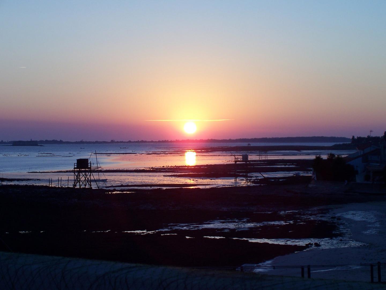 Frankreich am Strand - ein Sonnenuntergang