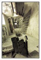 Frankreich, Côte d'Azur, Fréjus, Kirche Treppenhaus Glockenturm