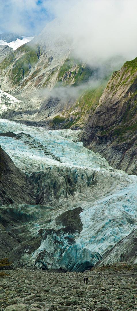 Franz Josef Gletscher - Vertical Panorama