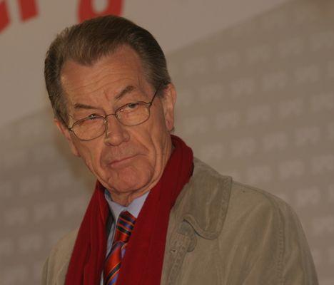 Franz Müntefering designierter SPD-Vorsitzender am 25.9.08 in München/Marienplatz
