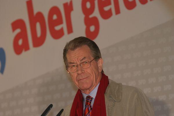 Franz Müntefering (SPD) am 25.9.08 in München