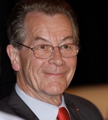 Franz Müntefering (SPD) bei seinem Wahlkampfauftritt in München 3.9.08 Hofbraukeller