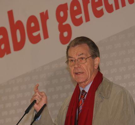Franz Müntefering(SPD) am 25.9.08 in München