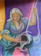 Frau am Brunnen