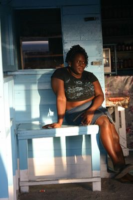 Frau auf Jamaica