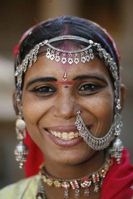 Frau aus Rajasthan, Indien