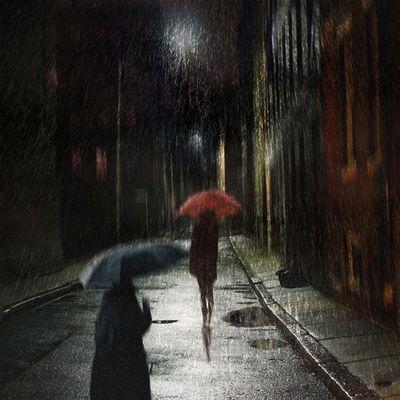 Frau im Regen II