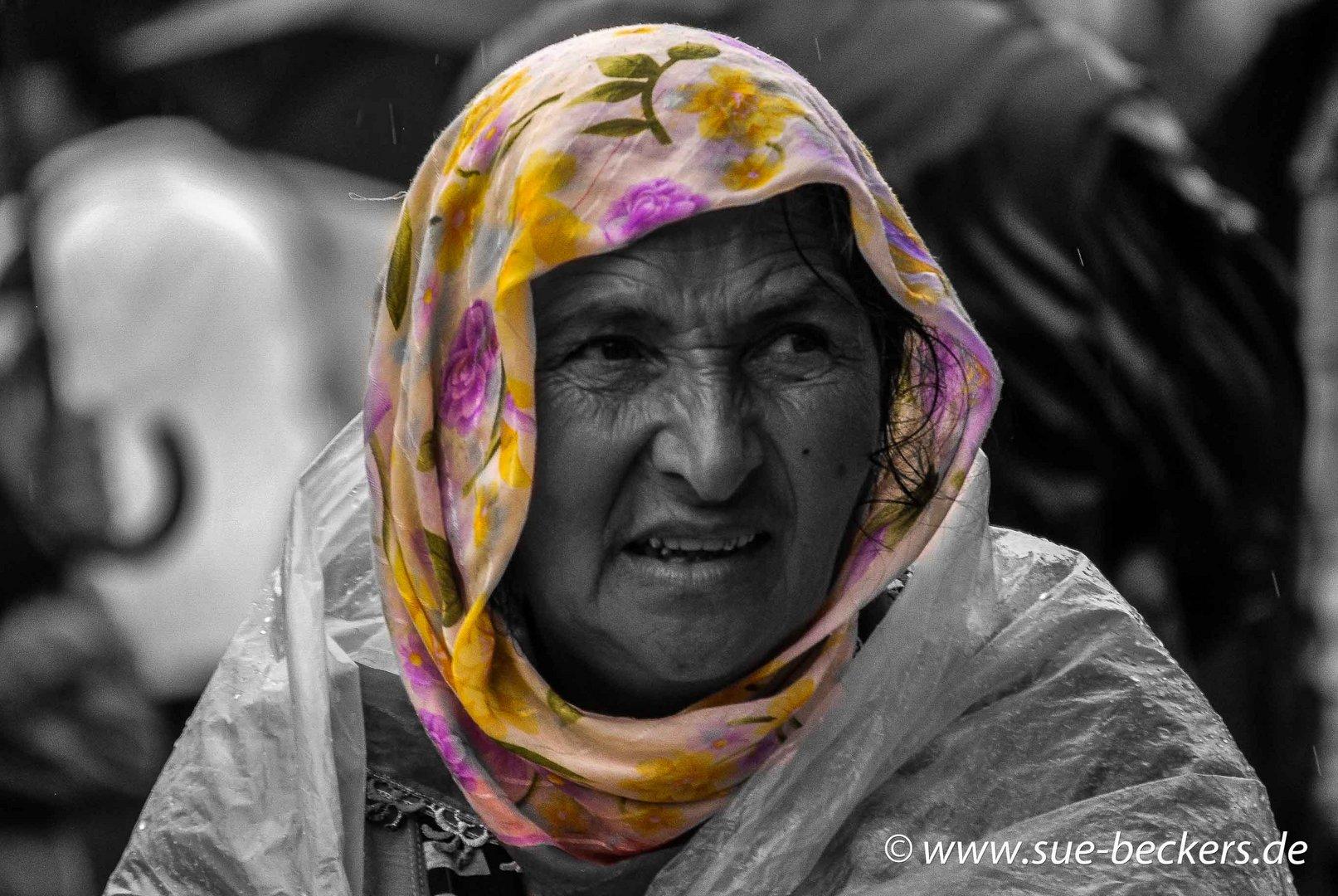 Frau in Barcelona
