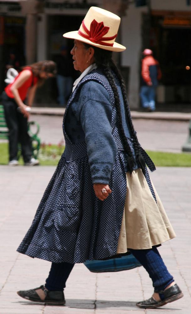 Frau in Cusco