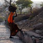 Frau in Jaipur