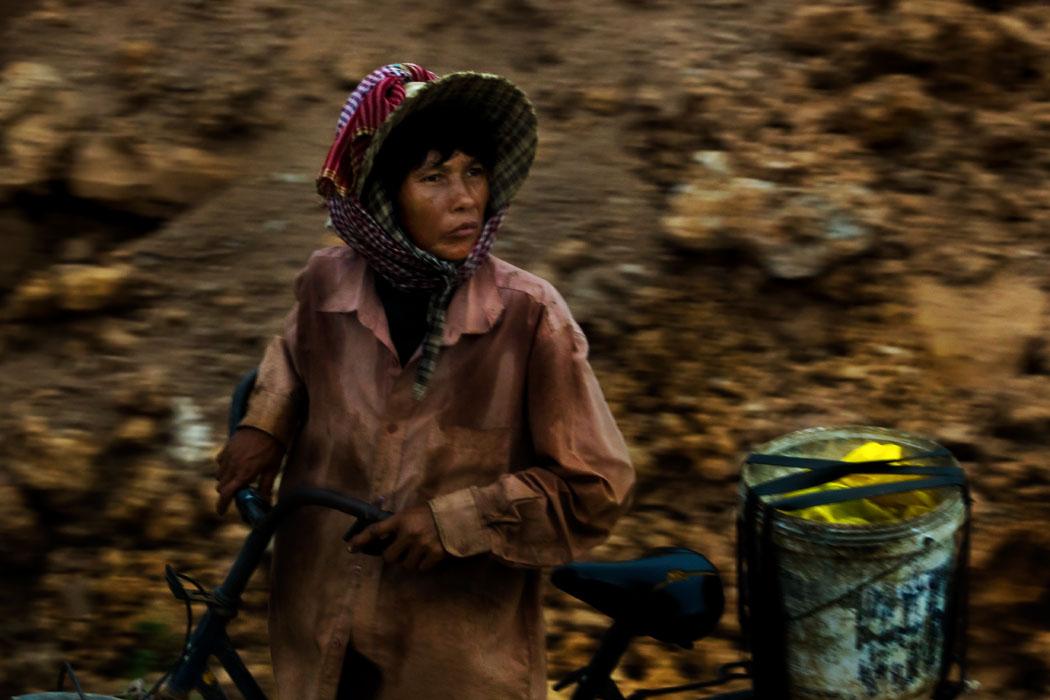 Frau in Kambodscha