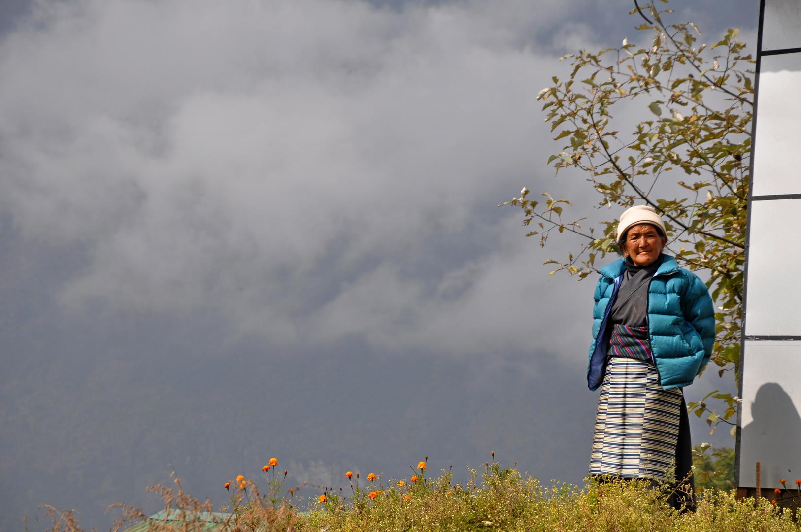 Frau in Lukla