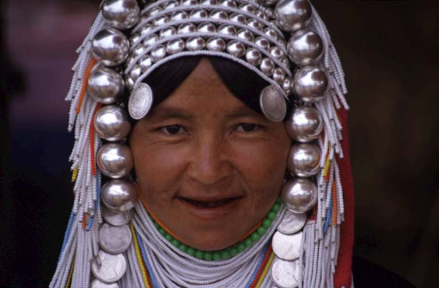 Frau in Nordthailand