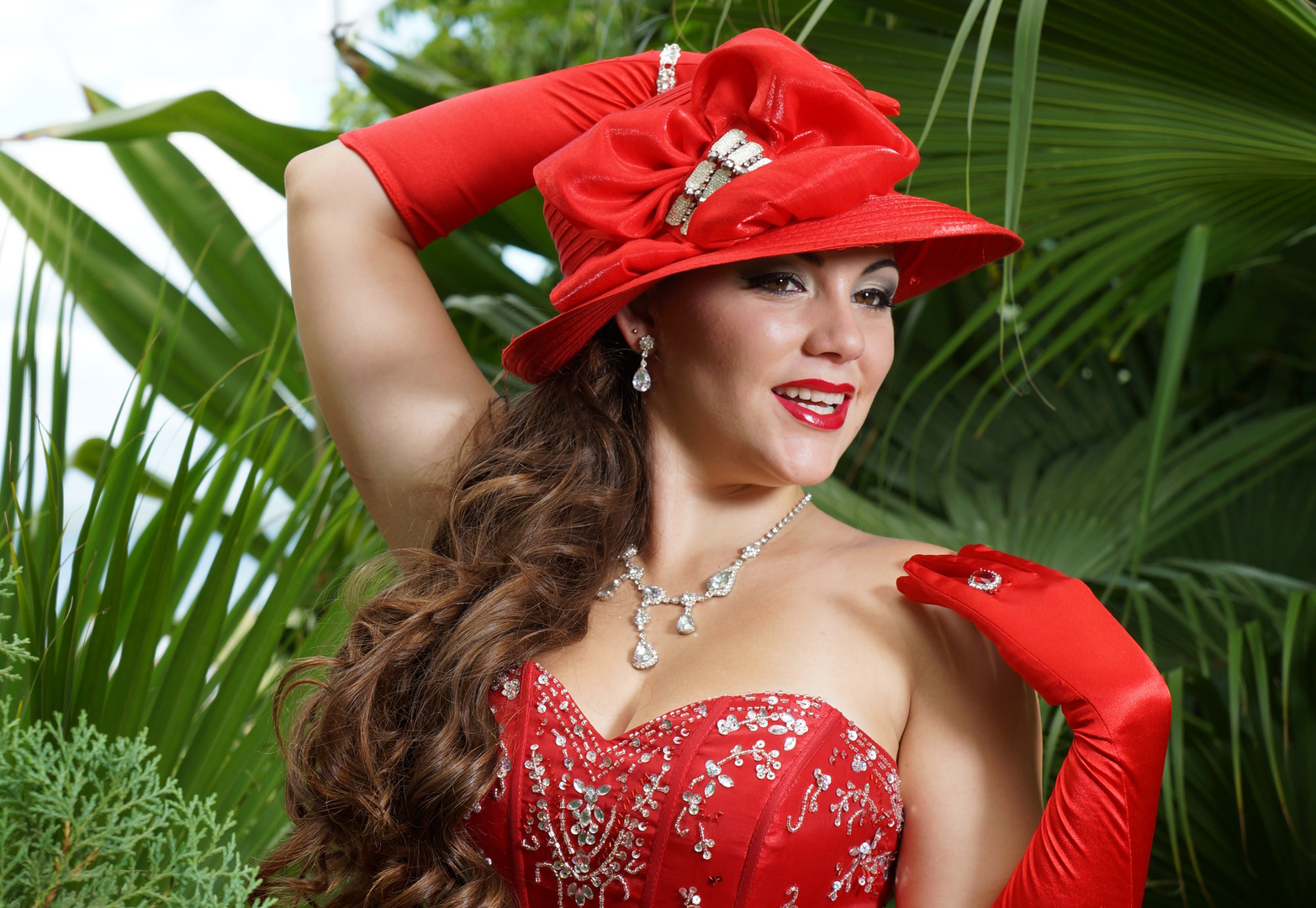 Frau in Rot 7