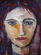 Frau mit blauen Augen