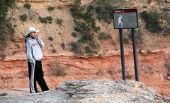 Frau Telefon Grand Canyon
