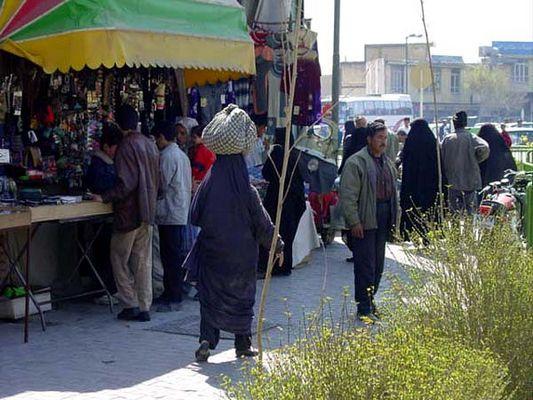 Frauen im Iran II - Strassenszene in Esfahan